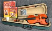 LARK Violin STUDENT VIOLIN WITH NEW STRINGS, BOOK, & DVD